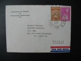 République Dominicaine  Lettre à Entête   Ambassade De France 1970   Pour Sté Générale  En France Bd Haussmann Paris - Dominicaine (République)