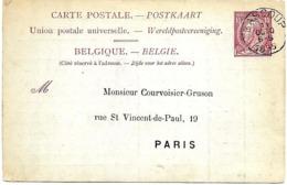 """LE 0200. CP 21 Càd BASCOUP 11 OCTO 1895 V. PARIS. REPIQUAGE """"Société Chaarbonnière De Bascoup"""". Bon Bureau. TB. - Stamped Stationery"""