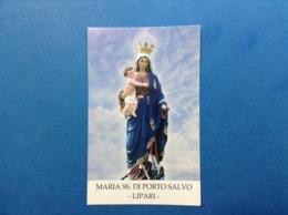 Santino Holy Card Maria SS. Di Porto Salvo Lipari - Santini