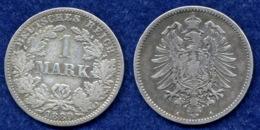 Deutsches Reich 1 Mark 1880A Reichsadler Ag900 - 1 Mark