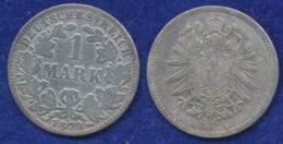 Deutsches Reich 1 Mark 1879A Reichsadler Ag900 - 1 Mark