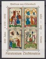 Lichtenstein 1970 MiNr.527 - 530 Block 8 O Gest. Minnesänger ( 2203 )günstige Versandkosten - Liechtenstein