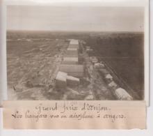 GRAND PRIX D'ANJOU LES HANGARS VUS EN AÉROPLANE A ANGERS  18*13CM Maurice-Louis BRANGER PARÍS (1874-1950) - Aviation