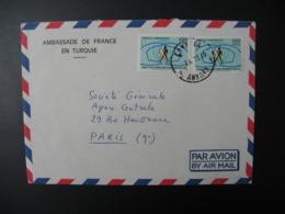 Turquie  Lettre à Entête   Ambassade De France En Turquie  Ankara 1971  Pour Sté Générale  En France Bd Haussmann Paris - 1921-... République