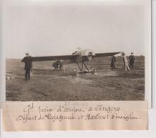 GRAND PRIX D'ANJOU A ANGERS DÉPART DE LEGAGNEUX ET MARTINET S MONOPLAN   18*13CM Maurice-Louis BRANGER PARÍS (1874-1950) - Aviación