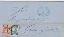 Mexique Lettre Guadalajara 1874 - Mexico