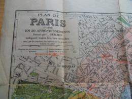 Plan De Paris  Et Banlieue  L. Guilmin Non Daté ( 1930 Env ) Sans Couverture   ( Crété Corbeil ) - Europe