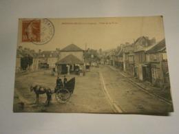 Beuvron En Auge Place De La Halle,Calvados 14,voyagée 1911,TBE - Francia