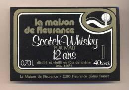 Etiquette Scotch Whisky    -   La Maison De Fleurance  -  Fleurance  (32) - Whisky