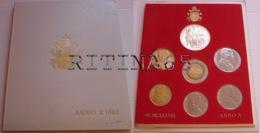 VATICANO !!! SERIE DIVISIONALE 1988 FDC GIOVANNI PAOLO II° ANNO X° !!! - Vaticano