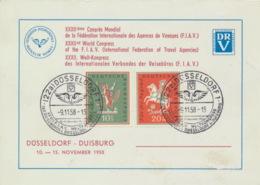 BRD 286/87 Auf Sonderkarte Weltkongreß F.I.A.V. Düsseldorf 1958 - [7] Federal Republic