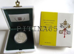 VATICANO GIOVANNI PAOLO II° 500 LIRE ARGENTO 1993 FDC LETTERA ENCICLICA - Vaticano