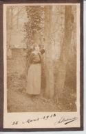 PHOTOGRAPHIE ORIGINALE - Portrait De Jeune Femme - 25 Mars 1913 - Anonymous Persons
