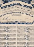 Alb 4) Actions & Titres > Mines D'Argent De La Caunette 1928N=15 - Andere