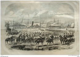 Débarquement Des Dragons De La Reine, à Dublin - Page Original 1867 - Documents Historiques