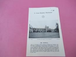 Dépliant à 2 Volets  + Ticket D'entrée / S Cross Hospital / WINCHESTER/Angleterre / Vers 1950      PGC367 - Dépliants Touristiques