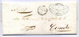Lettera Per CENEDA Da FOLLINA (Deputazione Comunale) 11.04.1862 Con Annullo Di Arrivo Sul Fronte - Italië