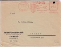 DR 3 Reich Freistempel Werkzeuge Bf Zella-Mehlis Thüringen 1935 - Deutschland