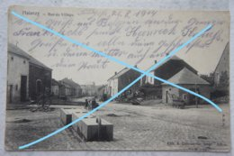 CPA HALANZY Aubange Musson Rue Envoyée Par Un Soldat Allemand En Août 1914 Luxembourg Gaume WW1 - Belgique