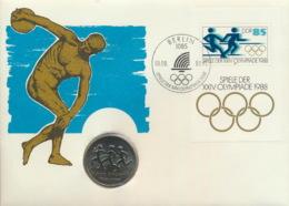 DDR Numisbrief 10 Mark 1988 Sport - [ 6] 1949-1990 : RDA - Rep. Dem. Tedesca
