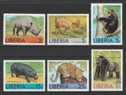 LIBERIA - 1976 - ( African Animals ) - Complete Set - MNH (**) - Liberia