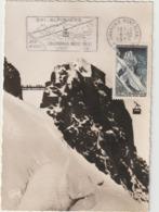 Carte Maximum FRANCE N° Yvert 1079 (AIGUILLE Du MIDI) Obl Sp FLAMME Ill 1er Jour (Ed Gany Gd Ft) RR - 1950-59