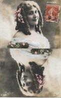 Célébrités. Artiste Belle Epoque - SAULIER  - Photographiée  Dame De Jeu De Cartes 1908 - CARTE PHOTO REUTLINGER - Entertainers