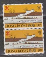 HONG KONG Scott # 358 MNH Pair - Mass Transit Railroad Station - Used Stamps