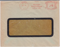 DR 3 Reich Freistempel Bank Bf Neiße Ostgebiete Oberschlesien 1942 - Deutschland
