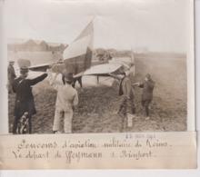 CONCOURS D'AVIATION MILITAIRE DE REIMS LE DÉPART WEYMANN S NIEUPORT  18*13CM Maurice-Louis BRANGER PARÍS (1874-1950) - Aviación
