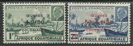 AFRIQUE EQUATORIALE FRANCAISE - AEF - A.E.F. - 1944 - YT 195/196** - A.E.F. (1936-1958)
