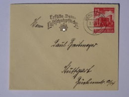 """1941 DR Brief, Freistempel """"Erfülle Deine Luftschutzpflicht!"""" - Germany"""