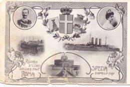 Cartolina Nuova Con Difetti Ricordo Del Varo Della R.Nave  - Franc - 1900-44 Vittorio Emanuele III