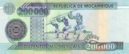 Mozambique  P.141 200000 Meticais  2003  Unc - Mozambique