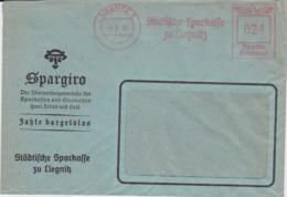 DR 3 Reich Freistempel Bank Bf Liegnitz Ostgebiete Schlesien 1942 (1) - Deutschland