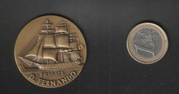 Médaille  Commemorative Bateau 3 Mats   Fragata D Fernando  Diam 40 ( TTB état) - Oggetti 'Ricordo Di'