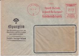 DR 3 Reich Freistempel Bank Bf Liegnitz Ostgebiete Schlesien 1942 (2) - Deutschland