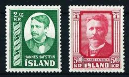 Islandia Nº 252/3 Nuevo Cat.60€ - 1944-... República