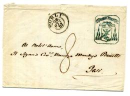 """Busta Di FORLI' 28.10.1857 Per JESI (Ancona) Con Stemmino """"BENIGNO NUMINE"""" - 1. ...-1850 Vorphilatelie"""