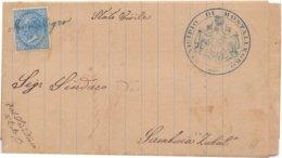1870 Piego Da Monteallegro Per Sambuca Zabut Con Annullo In Corsivo  - Franc - 1900-44 Vittorio Emanuele III