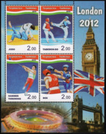 Tajikistan 2012 SS  MNH Olympic Games In London Judo Taekwo-dohammer Boxing - Summer 2012: London