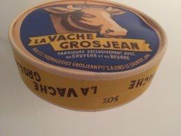 FACTICE GÉANT Boîte Fromage Carton La Vache Grosjean Lons-le-Saunier Jura - Scatole