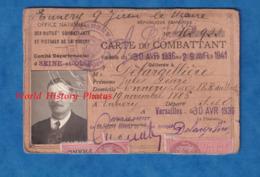 Carte Ancienne Du Combattant De 1936 - Poilu Jules Désiré DELARGILLIERE Né à ENNERY Le 19 Novembre 1886 - Versailles - Documenti