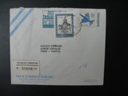 Républica Argentina - Argentine   Lettre Recommandée N° 503830  1970  Pour Sté Générale  En France Bd Haussmann Paris - Argentina