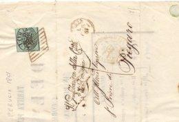 1857 Stato Pontificio Con 1 Baj Per Piegaro -Interessante Manifesto. - Franc - Stato Pontificio