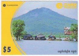 CAMBODIA A-104 Prepaid E-card - Landscape, Lake - Used - Kambodscha