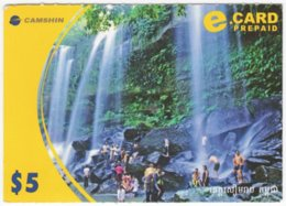 CAMBODIA A-106 Prepaid E-card - Landscape, Waterfall - Used - Kambodscha