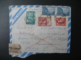 Républica Argentina - Argentine Devant Lettre Recommandée N° 301093  Pour Sté Générale  En France Bd Haussmann Paris - Altri