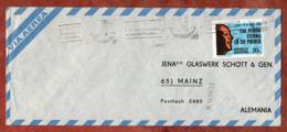 Luftpost, Todestag Evita Peron, Buenos Aires Nach Mainz 1974 (79101) - Storia Postale