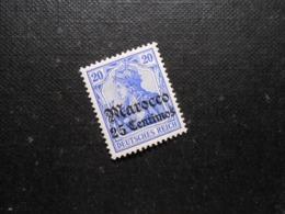 D.R.Mi 37a - 25C Auf 20Pf*MLH - Deutsche Auslandspostämter ( MAROKKO ) 1906 - Mi 25,00 € - Offices: Morocco